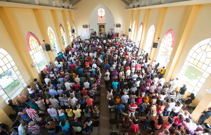 The Marianao Methodist Church is a long-established presence in Havana and the pastoral home of Bishop Ricardo Pereira. Photo by Mike DuBose, UMNS.
