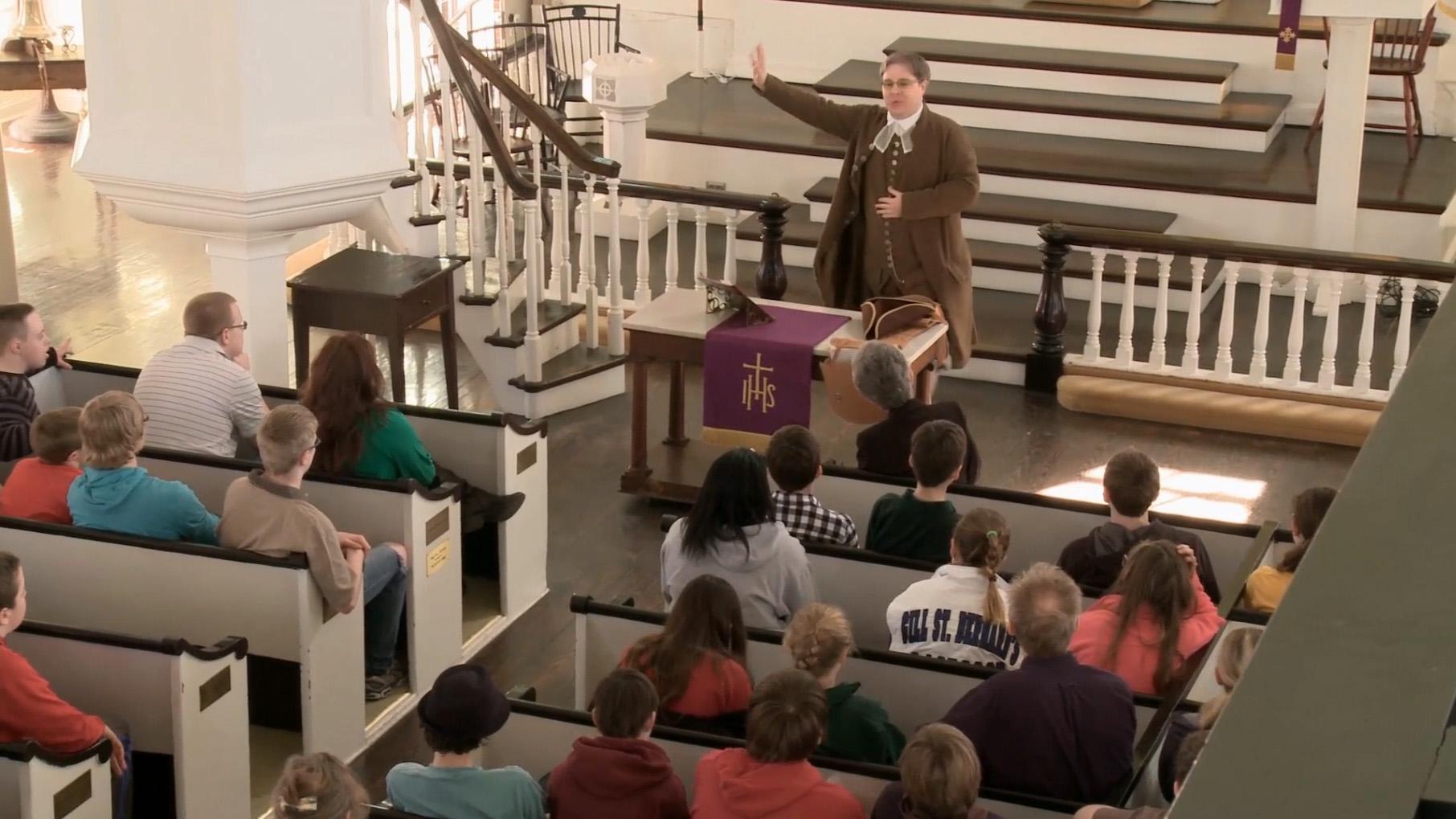 세인트조오지 연합감리교회는 1769년부터 감리교인들의 예배 처소로 사용된 역사적인 교회로 연합감리교인이라면 반드시 방문해야 할 장소 중 한 곳입니다. 사진 제공, 연합감리교 공보부.