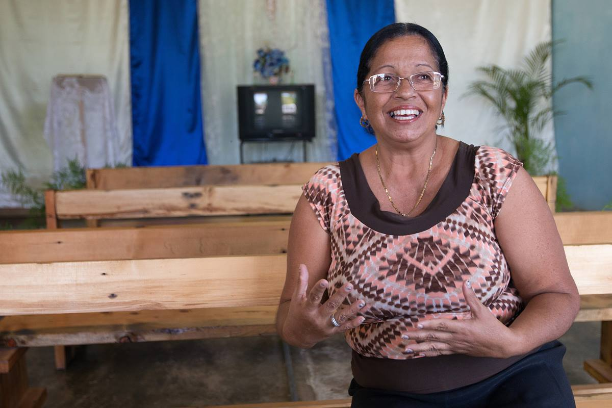"""Lourdes Vazquez left her job of 20 years and moved farther from friends and family to serve as a missionary with the Methodist Church in Cuba. She and her husband, Roberto Pozo, lead the Caraballo Mission, an outreach of San Antonio Methodist Church in San Antonio de Rio Blanco, Cuba. """"Whatever he wants me to do, I say, 'Lord, I'm here,'"""" she says. Photo by Mike DuBose, UMNS."""