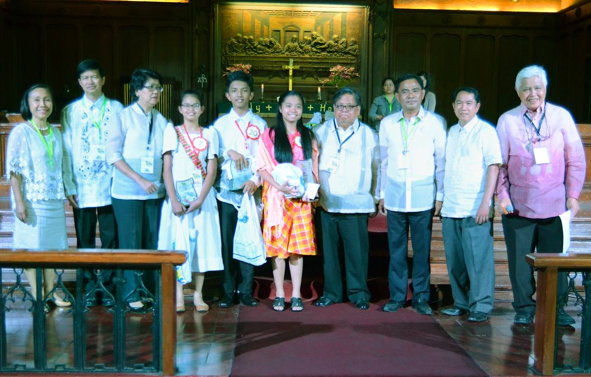 In the junior division of the 10th National Bible Quiz, the top three winners were Bridget Hilary S. Cruz, Philippines Conference, first place; Khyle Kidron Salitico, Bulacan Philippines Conference, second place; and Catherine Eladio, Northwest Mindanao Philippines Conference, third place. The biennial event reflects 20 years of fruitful partnership between The United Methodist Church and the Philippine Bible Society.