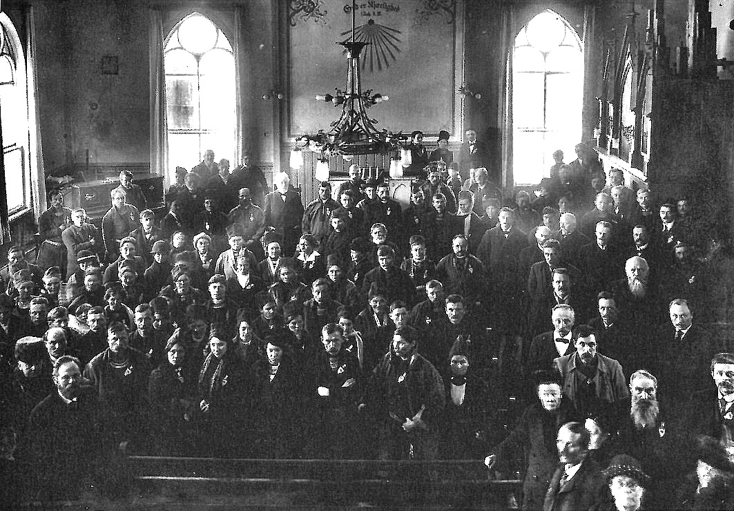 In February 1917, the first congress of people of Sámi origin (indigenous people of northern Norway, Sweden, Finland and Russia), gathered in Trondheim Methodist Church. A smaller church existed on the same site as the current church building. This was the very first time that the Sámi came together across national borders to work together to find solutions for common problems. Photo courtesy of Trondheim Methodist Church.