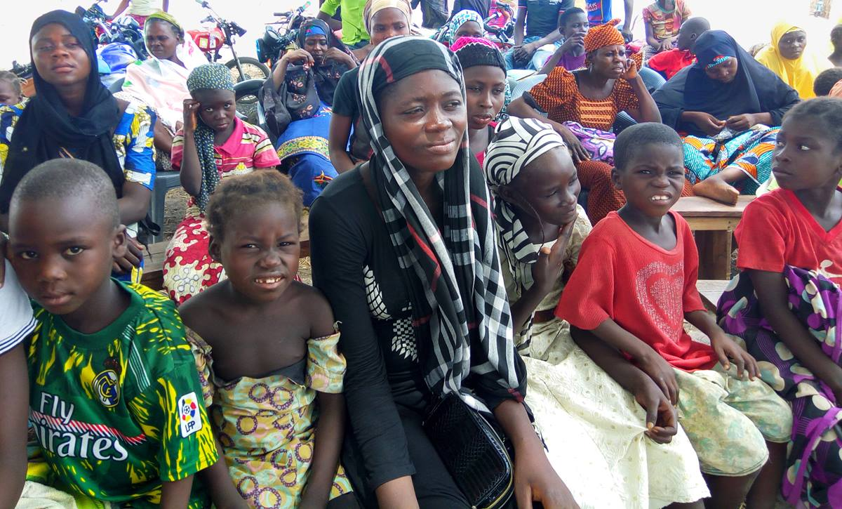 People who have fled violence in Karim Lazai, Garin Mashi, Lushi and other communities in Nigeria are taking refuge at the United Methodist Church in ATC/Nukkai in Jalingo. Photo by the Rev. Ande I. Emmanuel, UMNS.