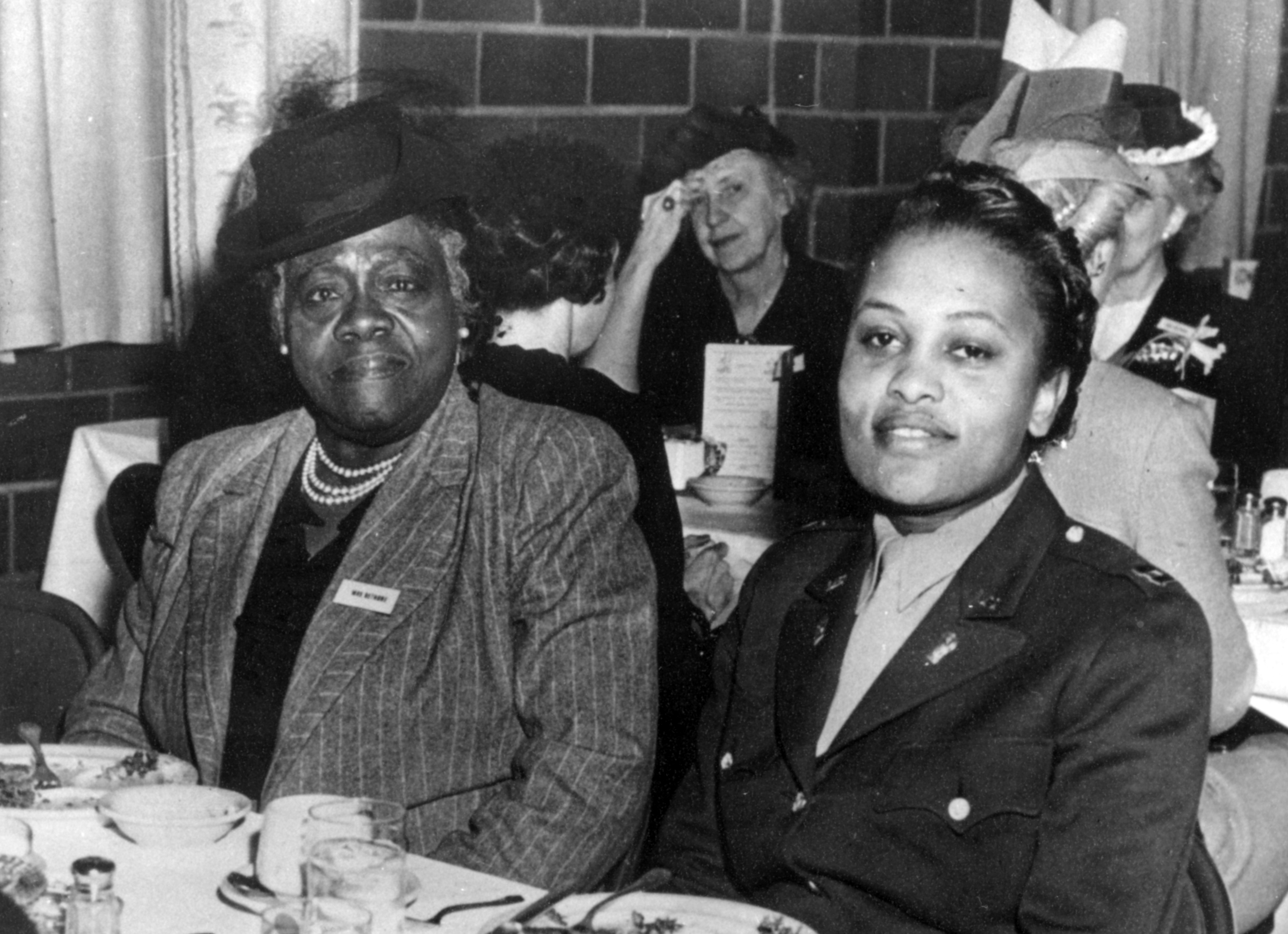 Mary McLeod Bethune, left, 20th century educator, courtesy of United Methodist Commission on Archives and History.