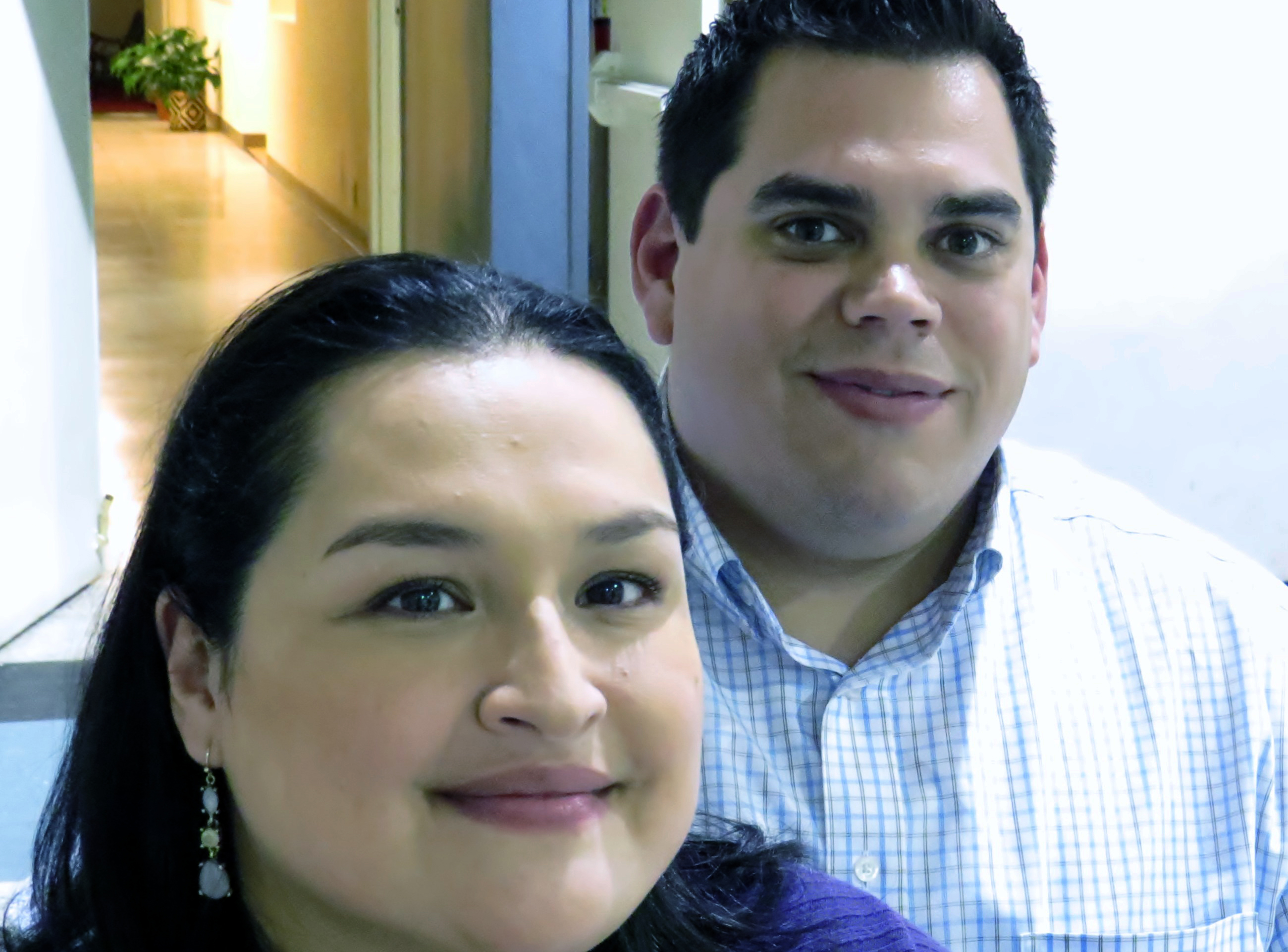 Abby and Brian Gutierrez are a married couple and members at La Trinidad United Methodist Church in San Antonio, Texas. Ms. Gutierrez also is coordinator for the immigration legal clinic offered by the local Justice for Our Neighbors office, a United Methodist outreach to immigrants. Photo by Sam Hodges, UMNS.