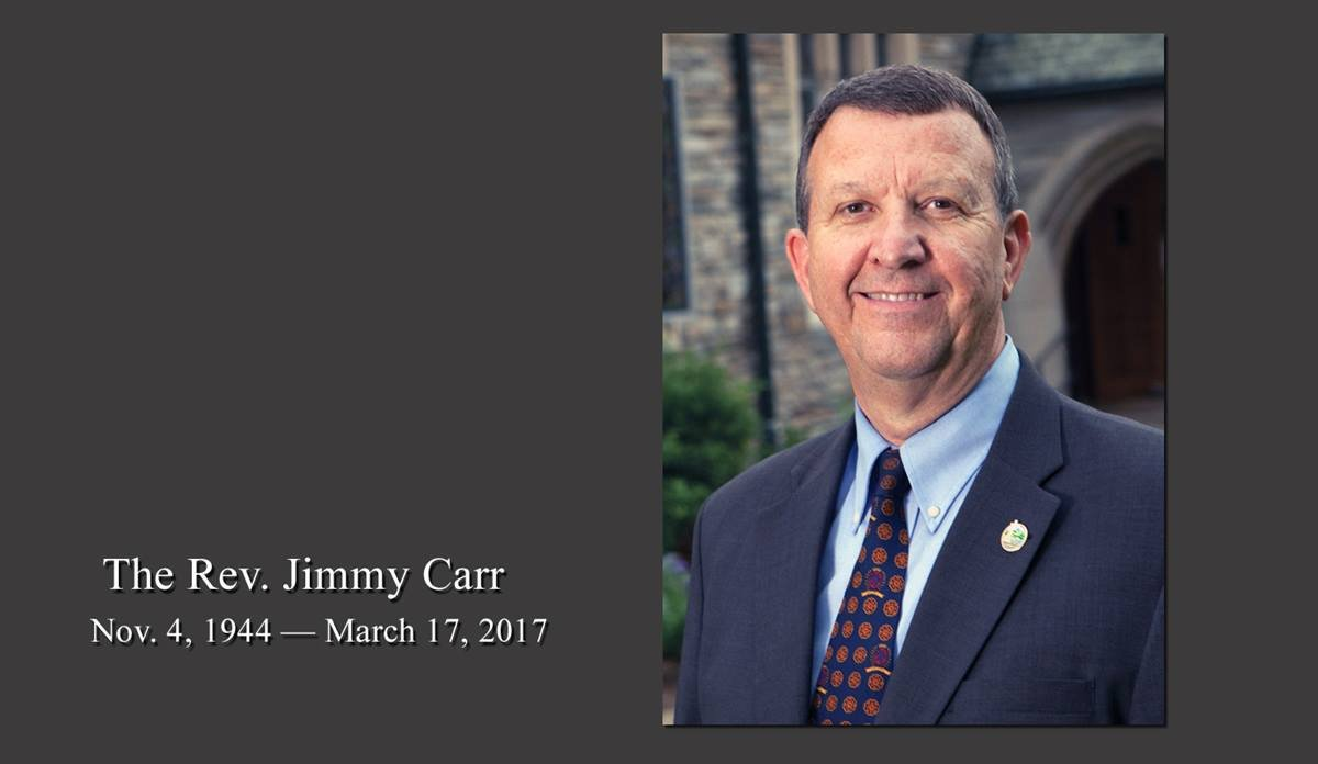 The Rev. Jimmy Carr was instrumental in creating the Order of Deacons. He also helped Lake Junaluska Conference and Retreat Center better connect with its community. Photo courtesy of Lake Junaluska Conference and Retreat Center.
