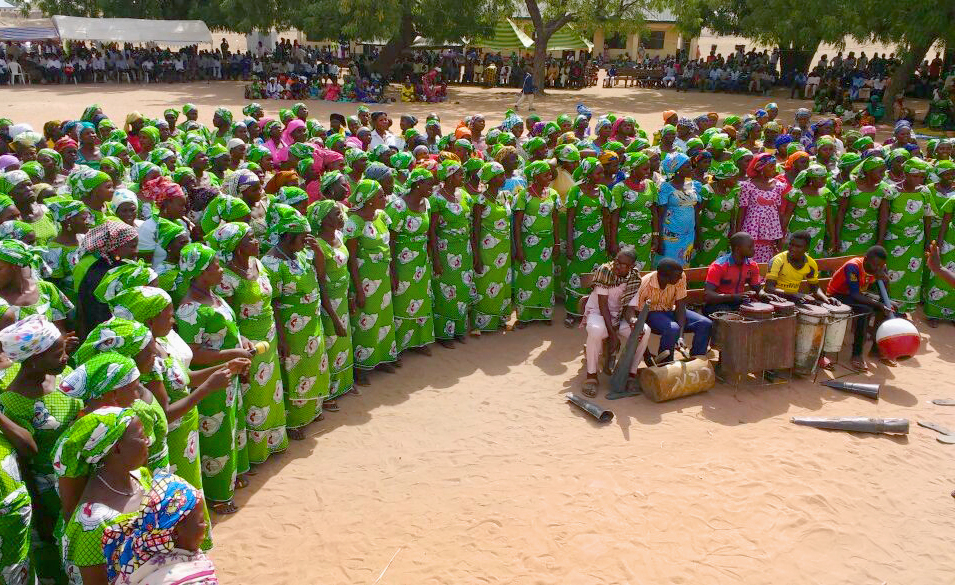 United Methodist Women offer songs during the March 19 inauguration of the new North East Nigeria Annual Conference. Photo by Richard Fidelis, Central Nigeria Conference.