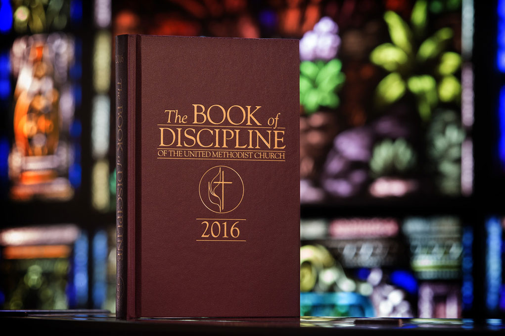 United Methodists around the world are considering whether to amend the denomination's constitution, a part of The Book of Discipline. Photo by Mike Dubose, United Methodist Communications
