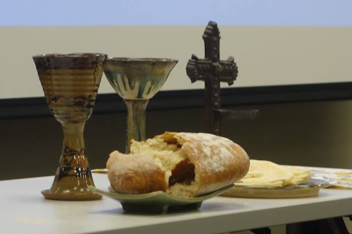 Communion is not an individual, private sacrament, rather it is celebrated by the whole gathered congregation. Photo by Diane Degnan, United Methodist Communications
