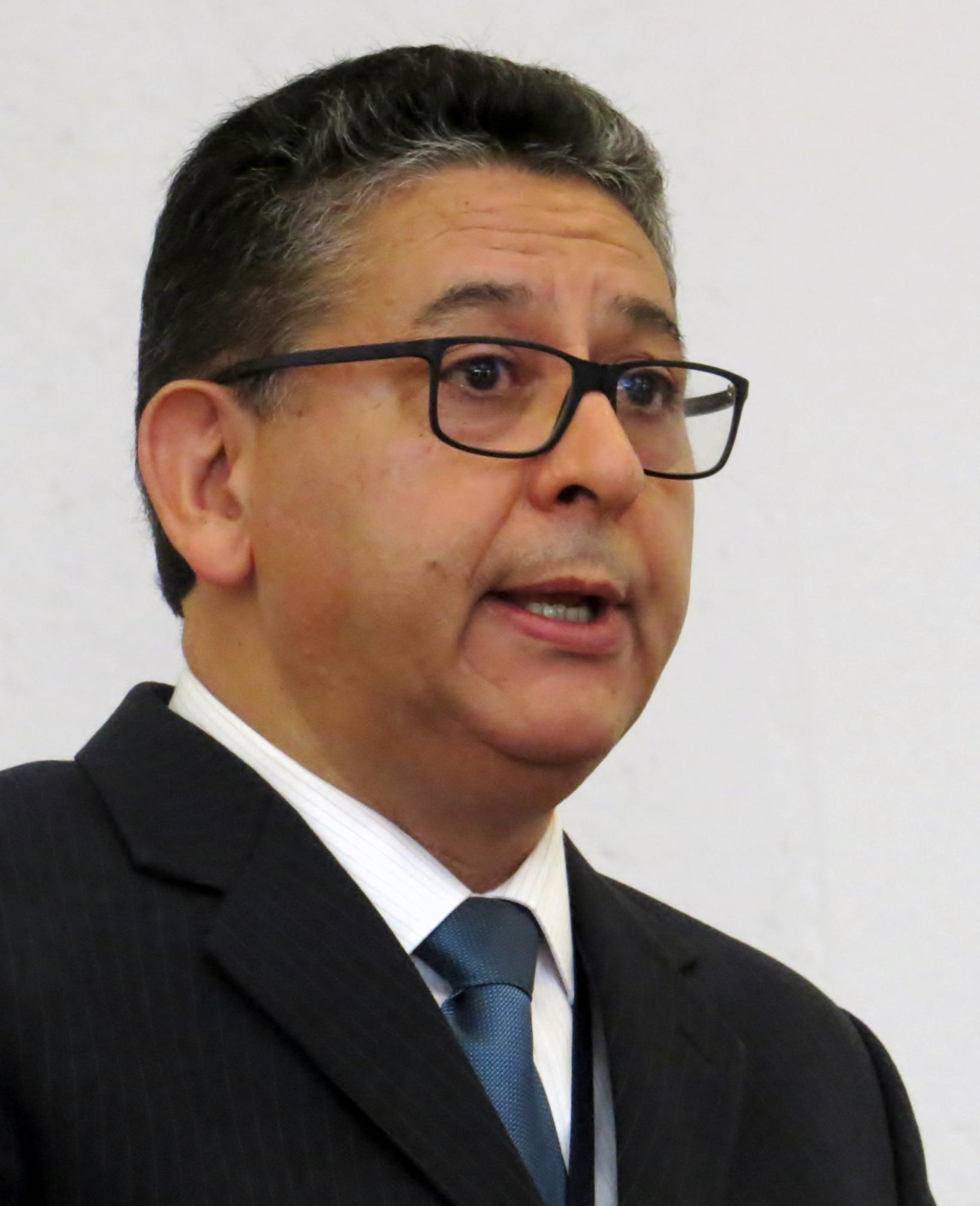 IAMSCU President Marcio de Moraes speaks during the 2017 IAMSCU conference in Puebla, Mexico. Photo by Sam Hodges, UMNS.