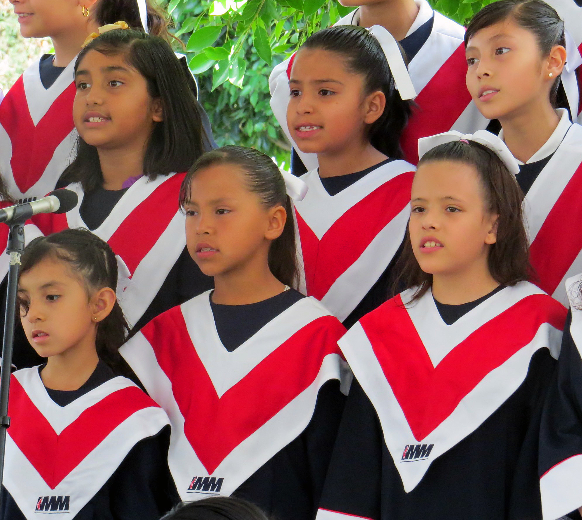 A choir from the local Methodist school performs as part of May 28 opening festivities at the International Association of Methodist-related Schools, Colleges and Universities conference, on the campus of Universidad Madero, in Puebla, Mexico. Photo by Sam Hodges, UMNS.