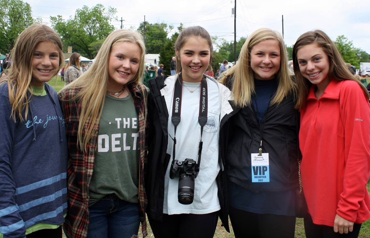 Teens enjoy the festivities and volunteering at Revival on the River 2017 in Greenwood, Mississippi. Photo courtesy of Revival on the River, Greenwood.
