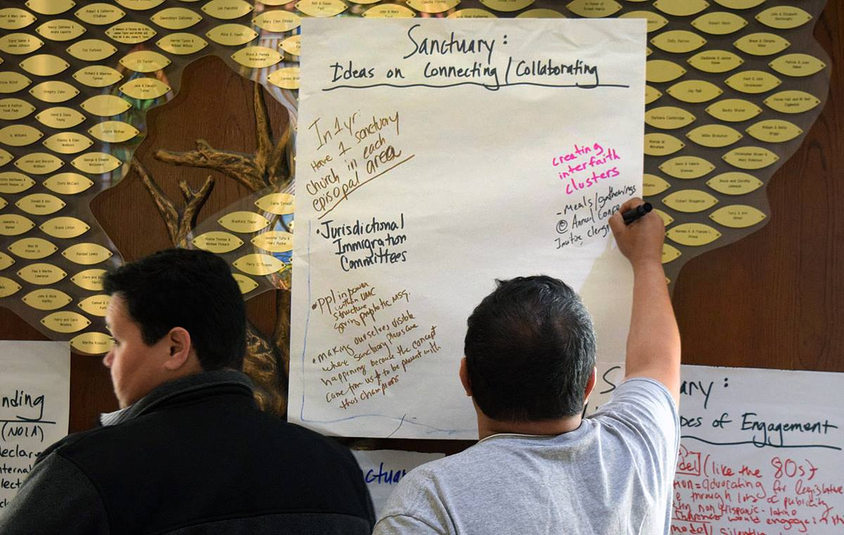 Exploring the nature of sanctuary was part of the discussion at the National Immigration Gathering, held March 12-14, in Washington, and co-sponsored by The United Methodist Board of Church and Society. Photo courtesy Board of Church and Society.