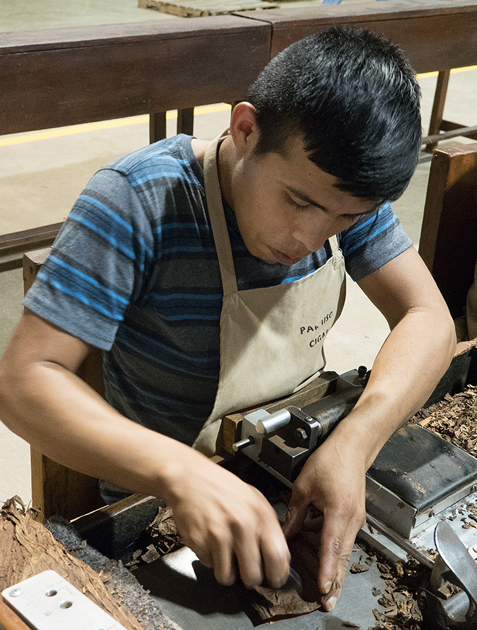 Fine cigars are rolled by hand. Photo by Kathy L. Gilbert, UMNS.