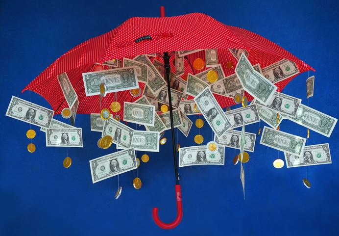 The General Council on Finance and Administration board has formed a new Reserves Task Force to examine just how much general church funds should save for a rainy day. Photo illustration by Hans Braxmeier, courtesy of Pixabay; adapted by UMNS.