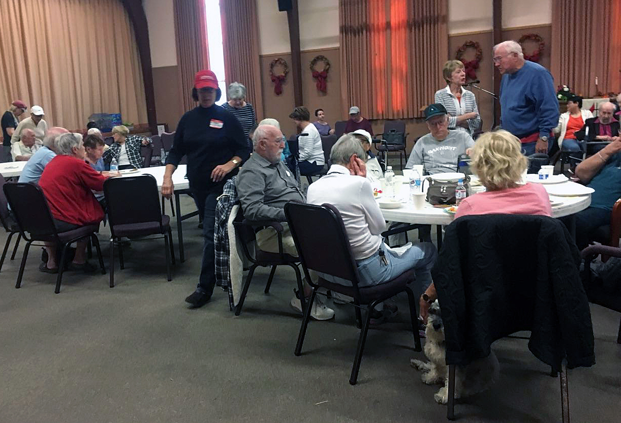 First United Methodist Church of Santa Rosa, California, opened as a shelter even though seven families in the church, including the Rev. Blake Busick, senior pastor, lost their own homes to deadly wildfires, Oct. 9. After the fires, many in the church were homeless and relying on the help of others. Photo by Kelly Vaughn, courtesy of First United Methodist Church.