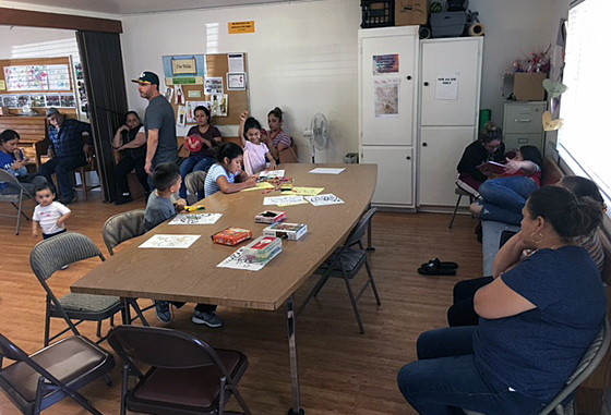 When members of Novato United Methodist Church learned that many evacuees — not knowing where else to go — had turned up at a local shopping mall, they devised a way to extend an invitation. Photo courtesy of Novato United Methodist Church.