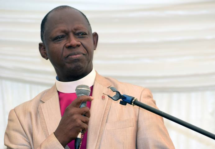 John K. Yambasu speaks at the Africa College of Bishops retreat in Mutare, Zimbabwe, which was marked by in-depth conversations among serving and retired bishops. Photo by Eveline Chikwanah, UMNS.