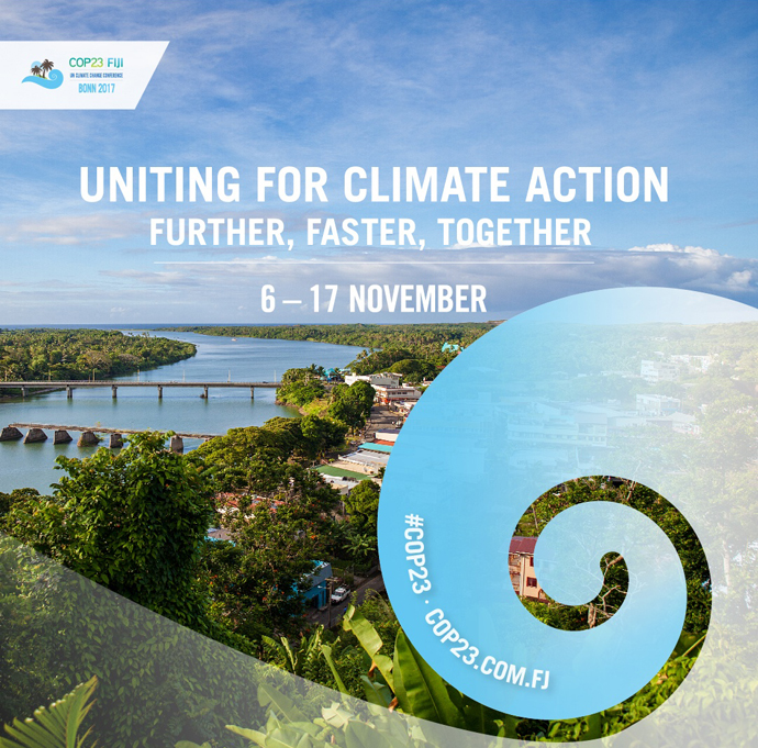 Social media art for the Nov. 6-17 Bonn climate summit, also known as COP 23, courtesy of COP23 Fiji.