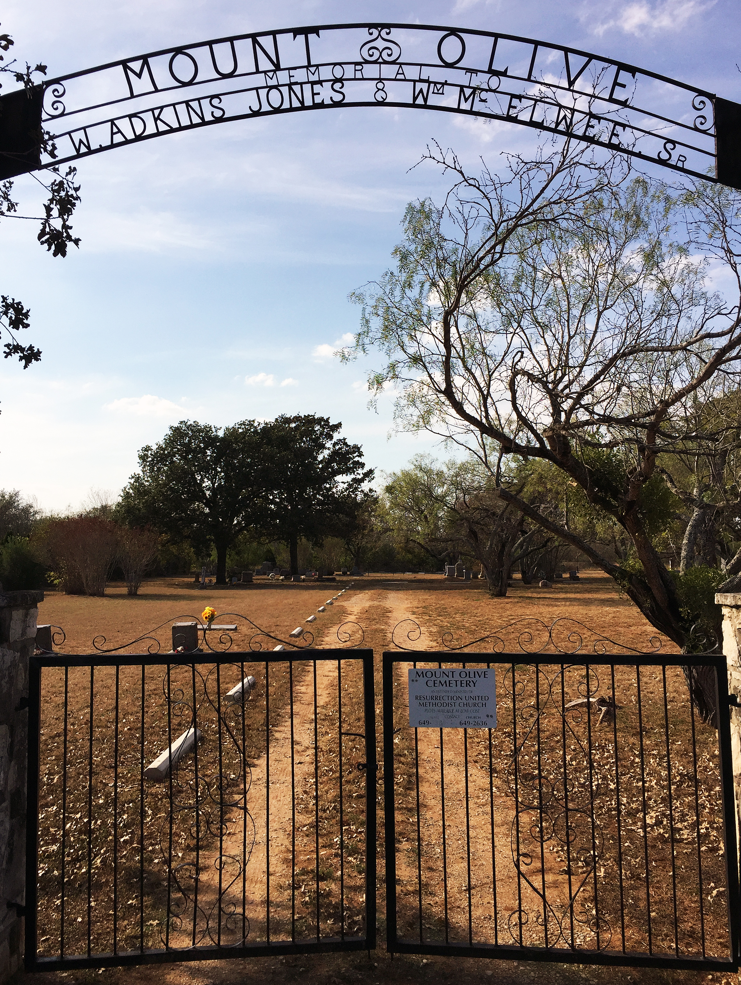 Resurrection United Methodist Church in San Antonio, Texas, has offered free burial spots at its Mount Olive Cemetery to families who lost loved ones in the Nov. 5, 2017, massacre at First Baptist Church of Sutherland Springs, Texas. Photo courtesy the Rev. Janet Weatherston.
