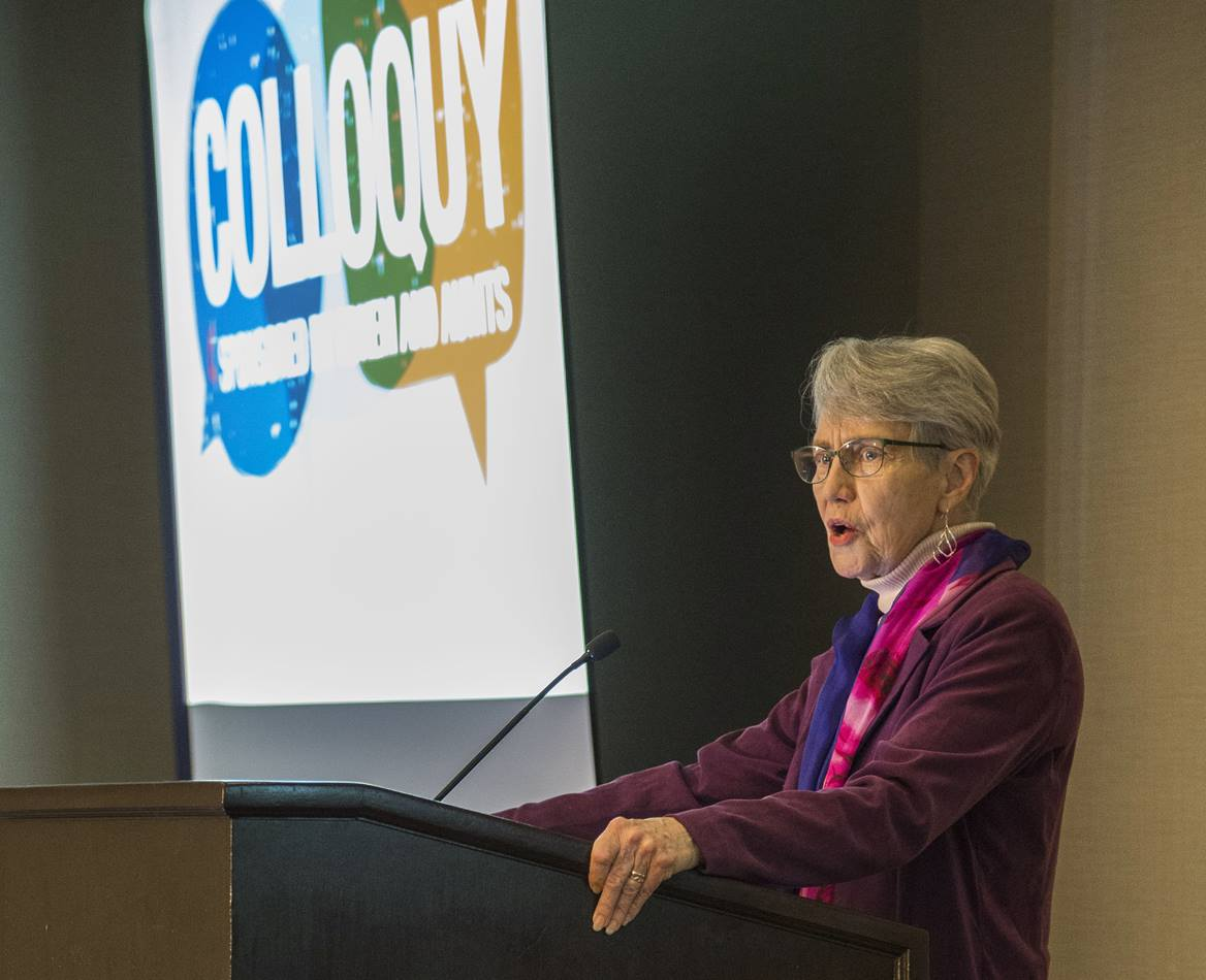 """The Rev. Mary Elizabeth Moore, dean of Boston University School of Theology, helped lead a Nov. 12-15 colloquy in Boston titled """"Missio Dei and the United States: Toward a Faithful United Methodist Witness."""