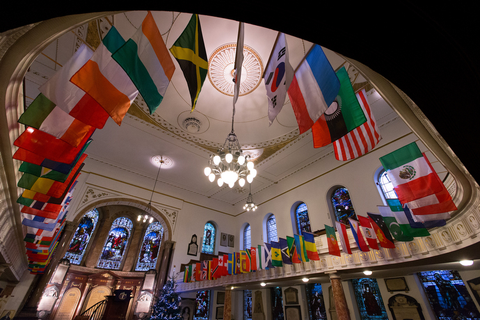 Wesley's Chapel in London was built in 1778 by John Wesley, the founder of Methodism. The church today serves a membership of hundreds of people drawn from every continent of the globe.