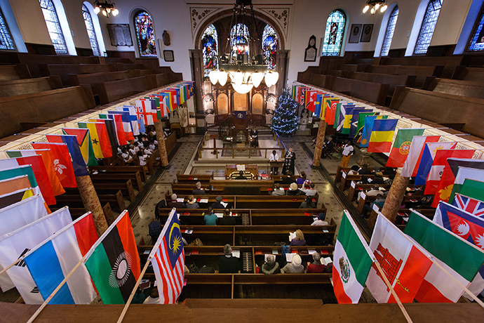 Wesley's Chapel in London was built in 1778 by John Wesley, the founder of Methodism. The church serves a membership of hundreds of people drawn from every continent of the globe. Photo by Mike DuBose, UMNS.