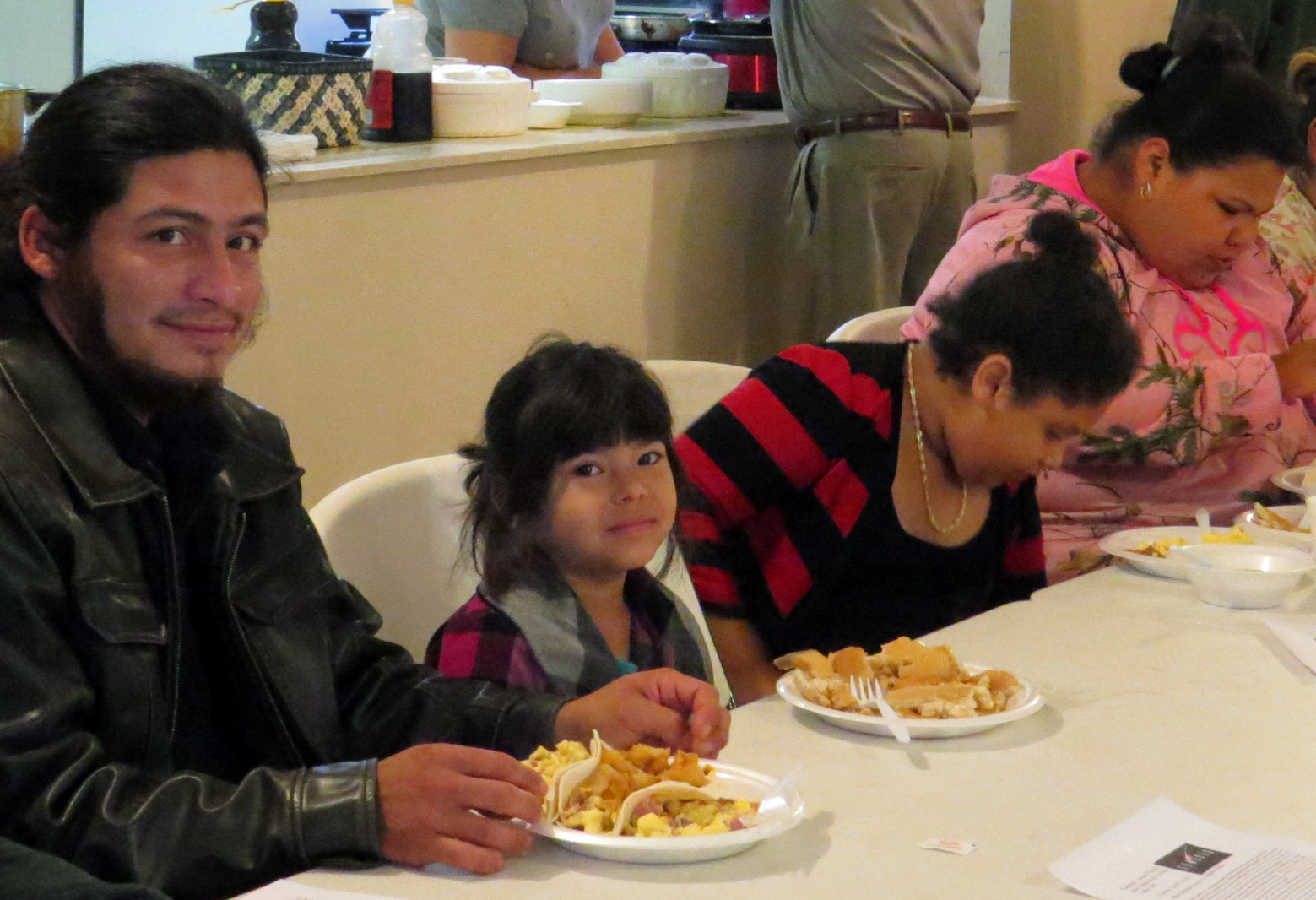 Tacos are the main attraction at San Pablo United Methodist Church's Taco Service, but pancakes and oatmeal are offered as well. The Pearsall, Texas, church is led by the Rev. Liliana Padilla, who cooks for the Taco Service. Photo by Sam Hodges, UMNS.