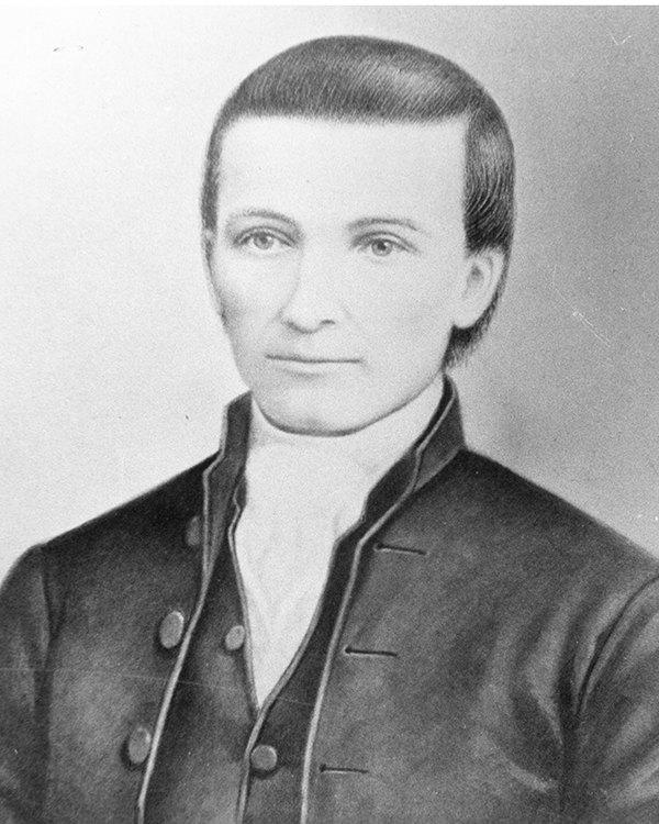 Jacob Albright, founder of what became the Evangelical Association. Portrait courtesy of the Archives and History.