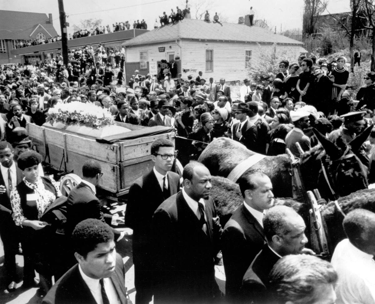 Funeral of the Rev. Martin Luther King Jr. Photo courtesy of Keystone Pictures USA / Alamy Stock Photo.