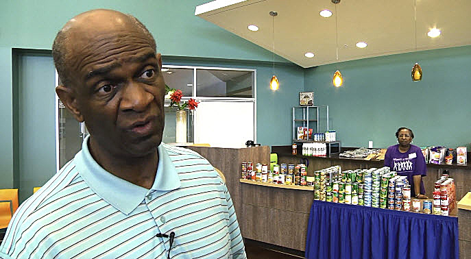 The Rev. Kirbyjon Caldwell from a Sept. 2017 interview at Windsor Village in Houston where the 18,000 member United Methodist church provided food, clothing and other help in response to Hurricane Harvey. Caldwell has recently been indicted by a federal grand jury on fraud and money laundering charges related to bond sales. He maintains his innocence and continues at the church. Screenshot from a a video produced by Brant Mills, Texas Conference.