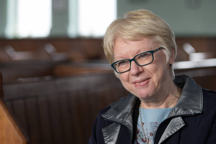Gill Dascombe, who lives in northern England, is a lay preacher in the Methodist Church in Britain and a former vice president of the Methodist Conference. Photo by Mike DuBose, UMNS.