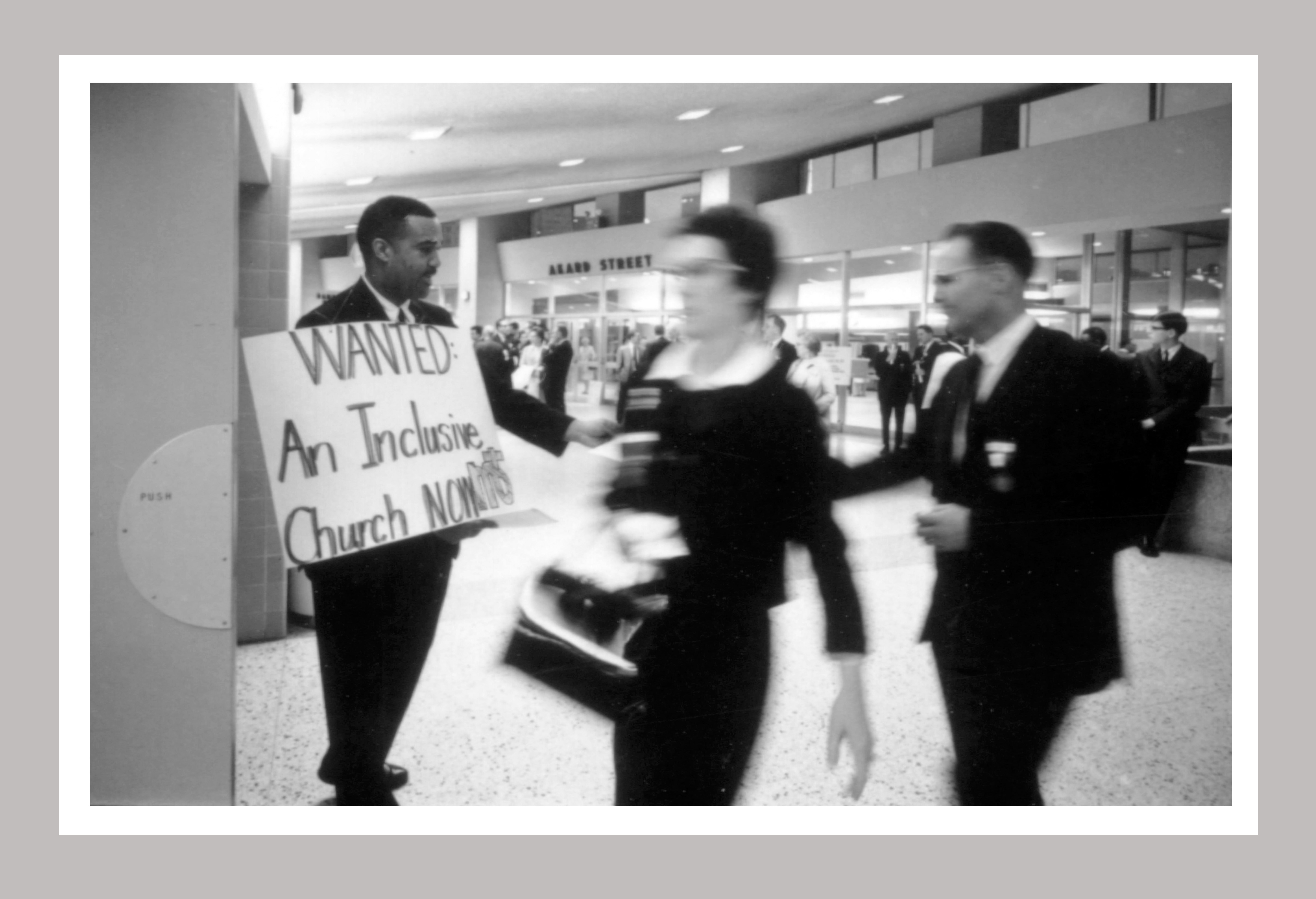 Photo from the 1968 General Conference, held April 21-May 4, 1968, Dallas. Racial segregation was one of the main issues confronting the merger that created The United Methodist Church. Photo courtesy of United Methodist Commission on Archives and History.