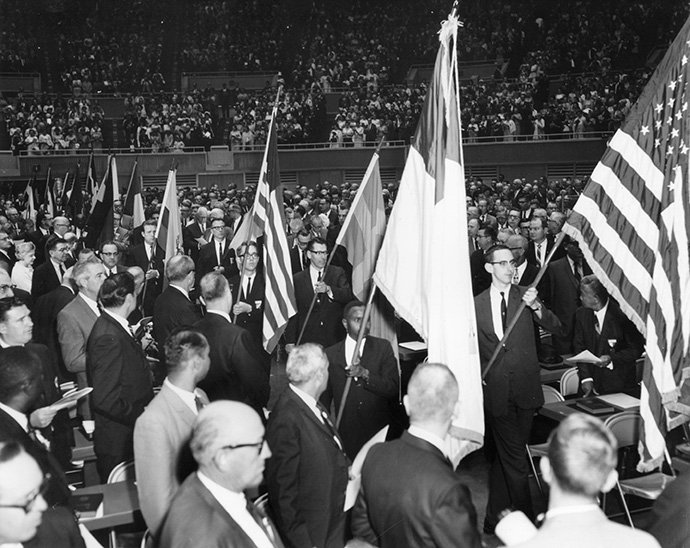 For many, the processional at the April 23, 1968, uniting service was a highlight of the Uniting Conference in Dallas. During the uniting service, the Methodist Church and Evangelical United Brethren Church officially joined to become The United Methodist Church.