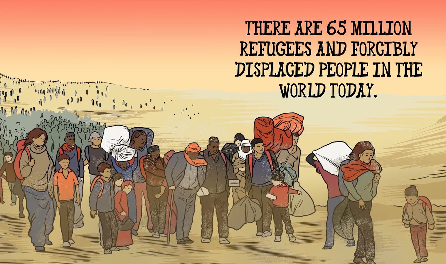 """Image from """"The Migrant,"""" an animated video produced by United Methodist Communications, created by Chocolate Moose Media."""