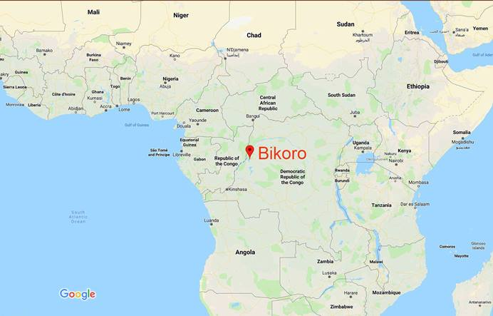 Health officials have declared a new Ebola outbreak in Bikoro in the northwest part of the Democratic Republic of Congo. Photo courtesy of Google Maps.