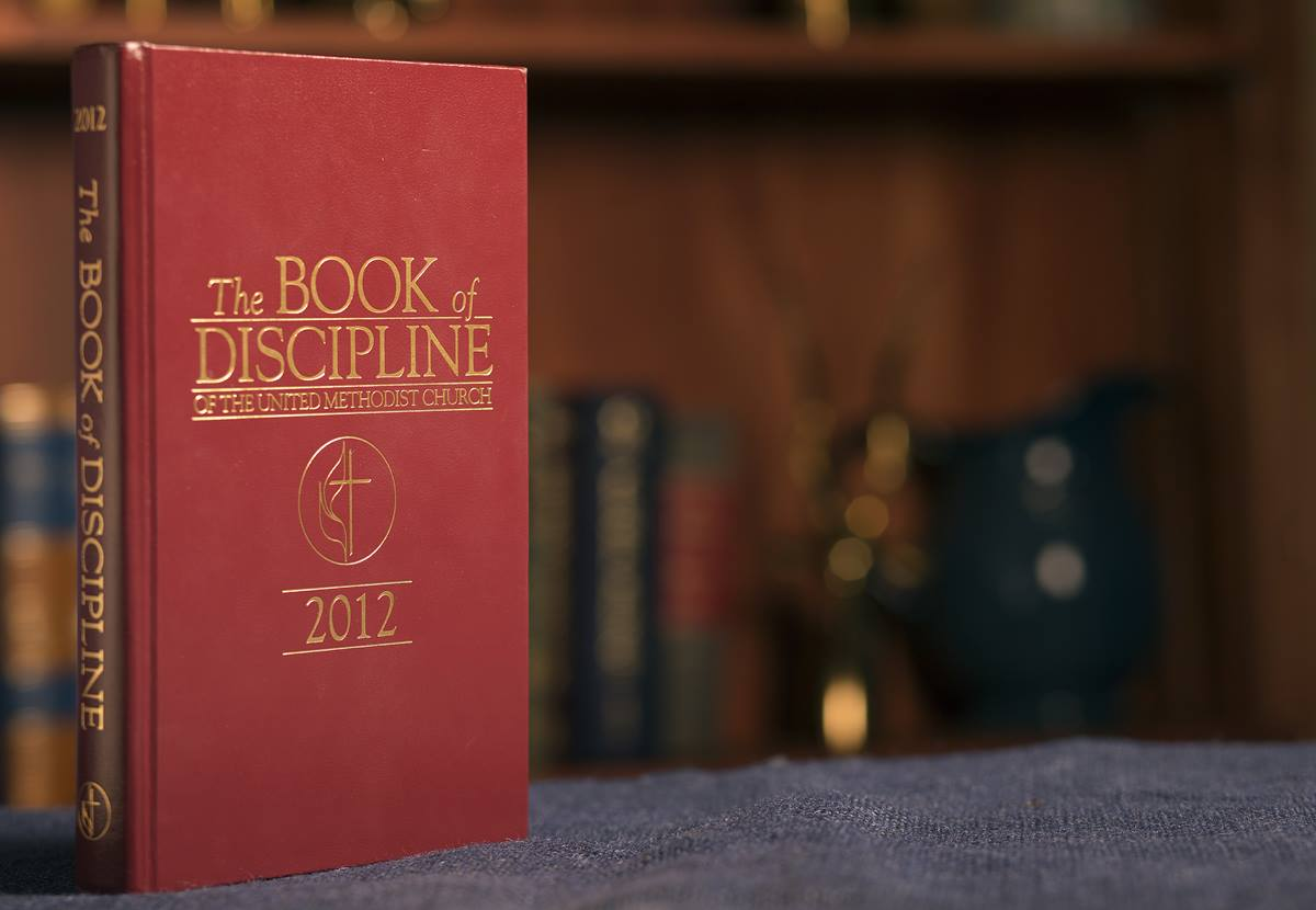 The Book of Discipline contains the rules that guide The United Methodist Church. Only General Conference can change the book, which is revised after each meeting of the conference. Photo by Mike DuBose, UMNS.