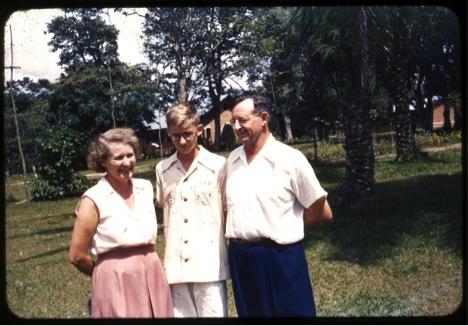 1954 Wembo Nyama, Mildred, Gene Jr. and Rev. Eugene Lovell. Photo courtesy of Bill Lovell
