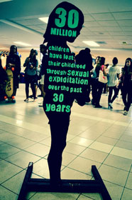 Jan. 11 is Human Trafficking Awareness Day. Here is one of the signs from FIU 4 Freedom's anti-human trafficking event on the campus of Florida International University.