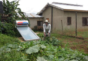 Oursler has introduced organic gardening methods and solar energy to her complex in Tanzania.