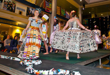 Allegheny College students combine fashion with waste recycling through the annual