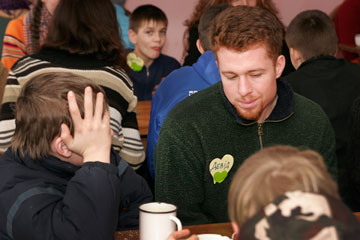 The Rev. David Goran visits an orphanage outside L'viv, Ukraine, in this 2010 file photo.