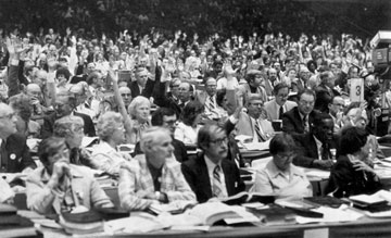 The 1980 United Methodist General Conference in Indianapolis saw the launch of