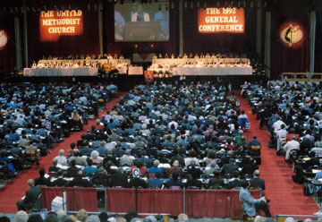 The 1992 United Methodist General Conference held in Louisville, Ky. celebrated the opening of Africa University.  A file photo courtesy of the United Methodist Commission on Archives and History.