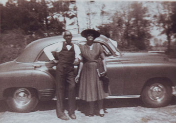 Nettles (left) and Florence George Talbert were sharecroppers near Clinton, La. A UMNS photo courtesy of Bishop Melvin G. Talbert.