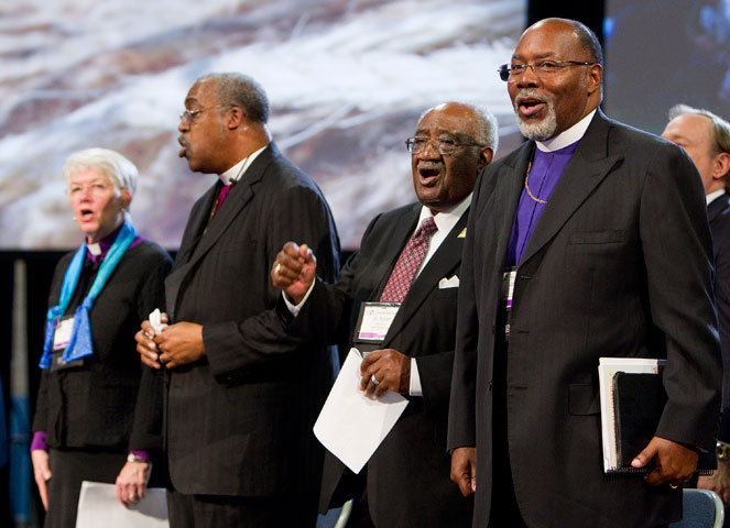 Pan-Methodist church leaders are welcomed to the 2012 United Methodist General Conference. A UMNS photo by Mike DuBose.