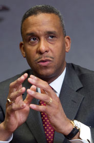 Dr. Wayne J. Riley is president of Meharry Medical College in Nashville, Tenn. A UMNS photo by Mike DuBose.