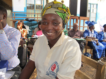 Bockari smiles during the United Methodist Women 2011 Convention in December 2011 at Baoma in southern Sierra Leone.