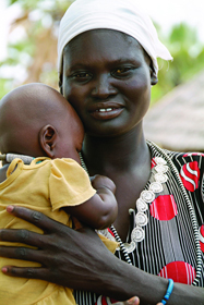 Zambian mother and baby. The Zambian government is working to cut malnutrition rates. A web-only photo by Margaret W. Nea from the Bread for the World 2011 Hunger Report.