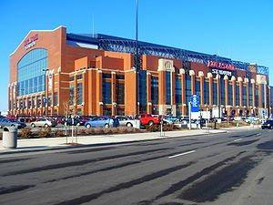 The City of Indianapolis will host Super Bowl XLVI in the Lucas Oil Stadium on Feb. 5, 2012. A web-only photo courtesy of Wikipedia.