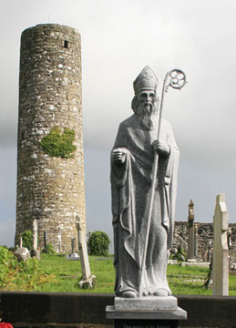 This sculpture of St. Patrick stands in a Aghagower, County Mayo, Ireland. A web-only photo courtesy of Andreas F. Borchert.
